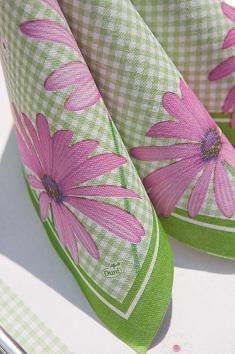 servietten mustertische fr hling pink flower von duni bei. Black Bedroom Furniture Sets. Home Design Ideas