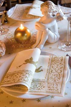 Duni tischdeko servietten raphael in champagne for Duni servietten weihnachten