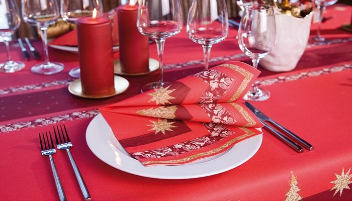 Duni Tischdeko Servietten Buon Natale In Rot