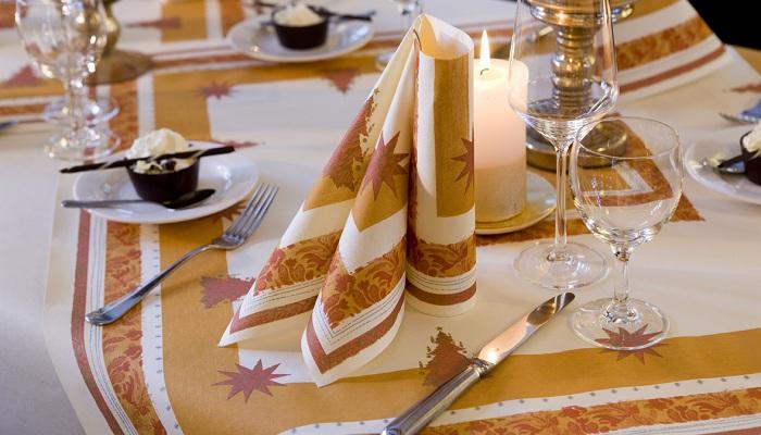 Duni tischdeko servietten buon natale in terracotta for Duni servietten weihnachten