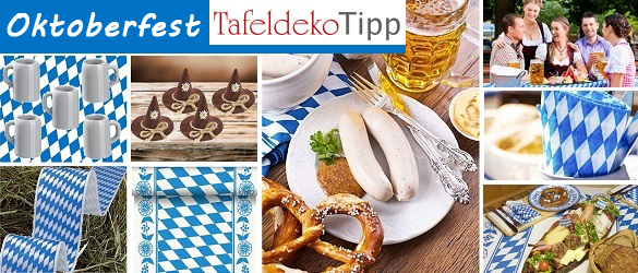 tafeldeko tipp oktoberfest traditionelle tischdeko im bayrischen stil. Black Bedroom Furniture Sets. Home Design Ideas