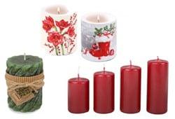 kerzen und gl ser f r weihnachten f r die romantik auf dem tisch. Black Bedroom Furniture Sets. Home Design Ideas