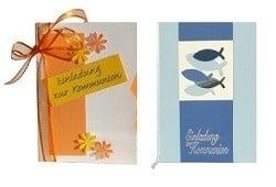 kommunion karten im tafeldeko karten shop für die tischdekoration., Einladungsentwurf