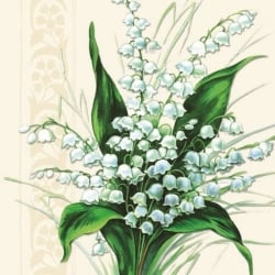 20er Pack Servietten Sweet White Bells, 33 x 33 cm