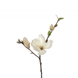 Kunstblume Magnolie in Creme