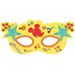 6er Pack Party-Masken Mickey Carnival