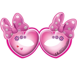 6er Pack Party-Masken Minnie