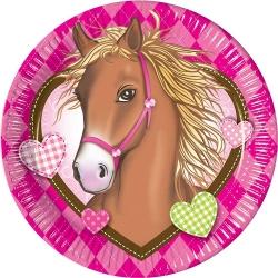 8er Pack Teller Pferd, 23 cm