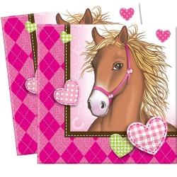 20er Pack Pferde Servietten 33 x 33 cm