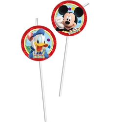 6er Pack Trinkhalme Playful Mickey