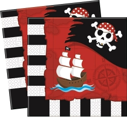 20er Pack Servietten Pirates Comeback 33 x 33 cm