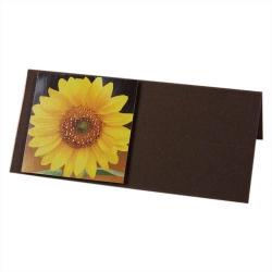 Tischkarte zum Geburtstag in Gelb/Braun