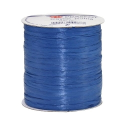 100 m Bastband Rayon Raffia matt in Royalblau