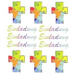 Elegant Klebe Sticker Einladung Kreuz Zur Kommunion Oder Konfirmation