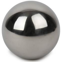 Edelstahlkugel in Silber glänzend, 80 mm