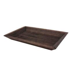 Holztablett rechteckig in Braun, 25 cm