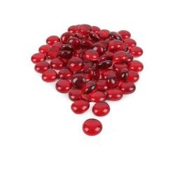 Glaslinsen zur Tischdeko in Rot