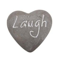 Dekostein in Herzform -Laugh-