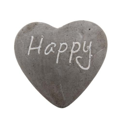Dekostein in Herzform -Happy-