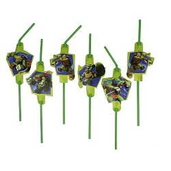 8er Pack Trinkhalme Ninja Turtles