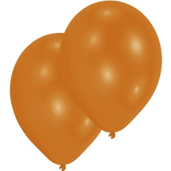 10er Pack Luftballons in Orange