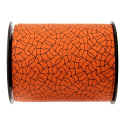 50 Meter Geschenkband Halloween Spinnennetz in Orange