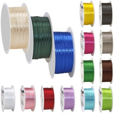 10 Meter Satin Band in 19 Farben, 3 mm