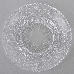 Glas Kerzenteller Vintage mit Struktur, 15 cm