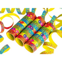 Luftschlangen mit Partysymbolen
