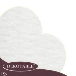 15er Pack Japan Servietten Herz in Weiß, 30 cm