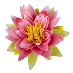 Kunstblume Seerose in Pink/Rosa, schwimmfähig