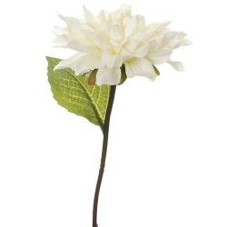 Kunstblume Dahlie in Weiß, 27 cm