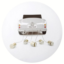 6er Pack Tischsets -Just Married-