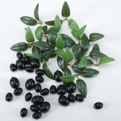 mediterrane streudeko oliven bl tter. Black Bedroom Furniture Sets. Home Design Ideas