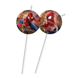 6er Pack Trinkhalme Spiderman 2