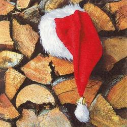 20er Pack Servietten Weihnachtsmannmütze, 33 x 33 cm