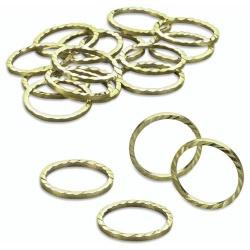 24er Pack Streudeko Eheringe in Gold, 18 mm