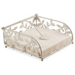 Metall Serviettenhalter in Creme