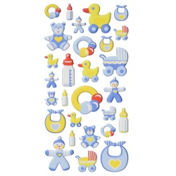 Klebe Softy Sticker Taufe, Babyboy