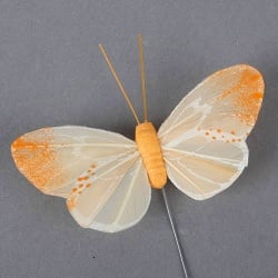 Schmetterling am Draht in Orange, 75 mm