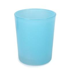Teelichtglas in Hellblau, 70 mm