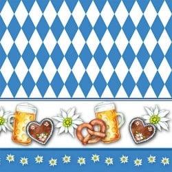 20er Pack Servietten Oktoberfest, Bayern Raute, 33 x 33 cm