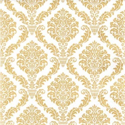 20er Pack Servietten Elegante Ornamente in Gold, 33 x 33 cm
