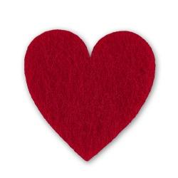 Filzherzen 48 Streudeko Herzen mit Klebepunkt Tischdeko Hochzeit Taufe rot rosa