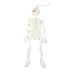 10 Halloween Leuchtskelette zum Aufhängen, 15 cm