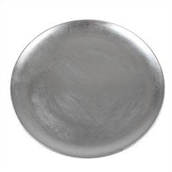 Dekoteller glatt, flach in Silber, 33 cm