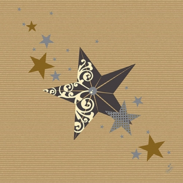 Duni Dunilin Servietten Walk of Fame Cream Kraft, 40 x 40 cm