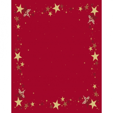 Duni Dunicel Tischdecken Walk of Fame Red, 125 x 160 cm