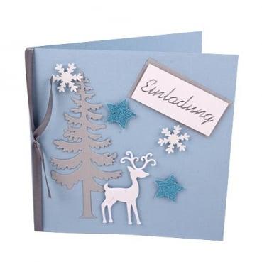 einladungskarten f r weihnachten im tafeldeko tischdeko. Black Bedroom Furniture Sets. Home Design Ideas
