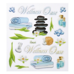 Klebe Sticker -Wellness Oase-